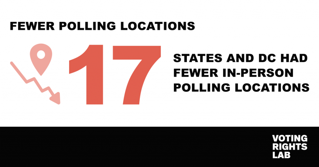 Fewer Polling Locations Infographic